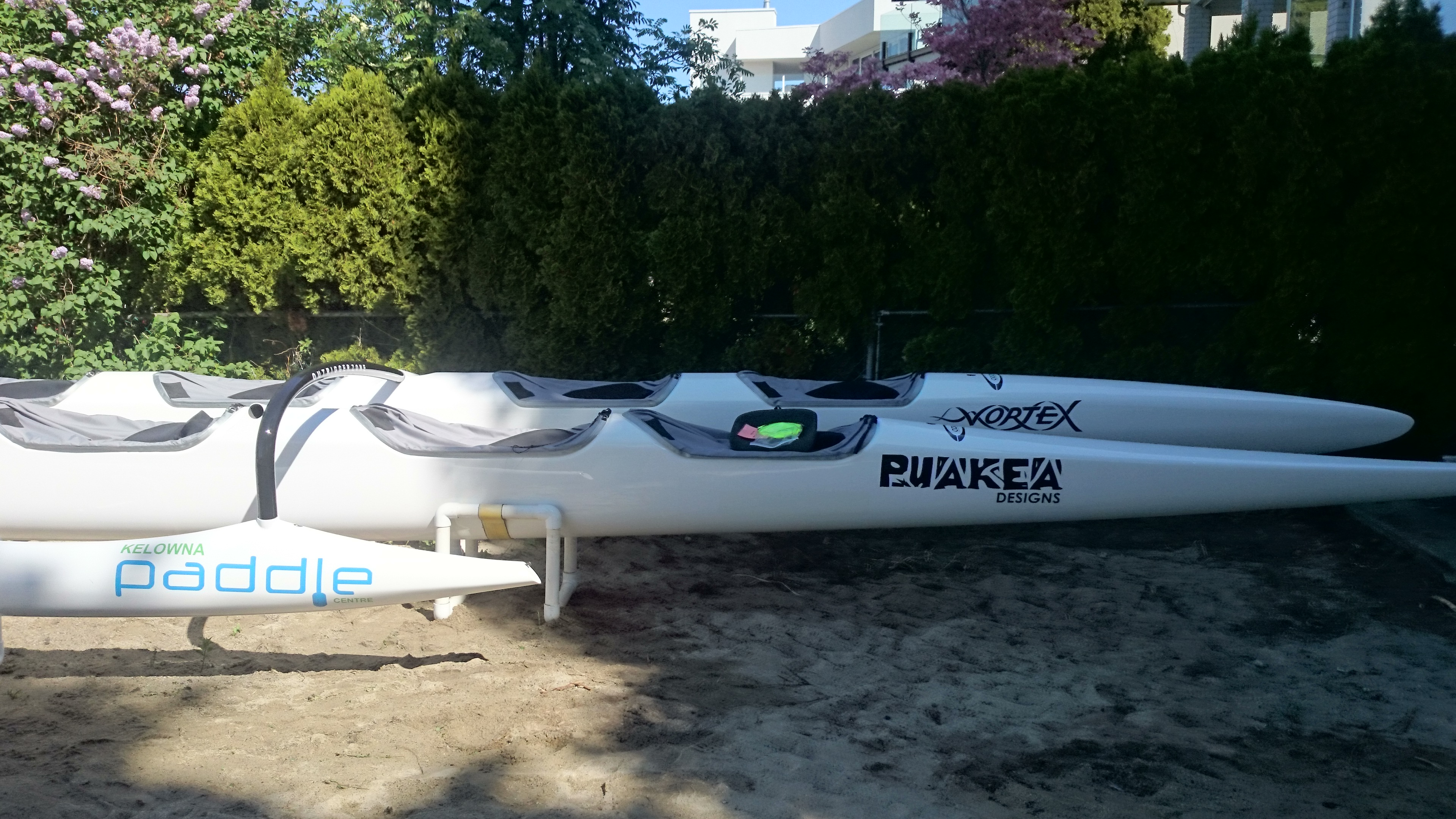 A trio of unlimited OC6s for Kelowna Paddle Centre